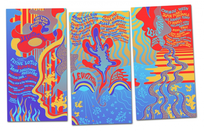 LEVITATION AUSTIN 2016 triptych